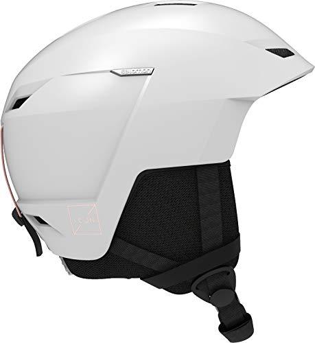 Salomon Damen Ski- und Snowboardhelm, Verstellbare Passform, Größe S, Kopfumfang 53-56 cm, ICON LT ACCESS, Weiß, L41199100