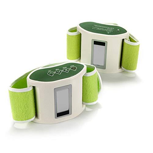 Afslanken taille riem, Elektrische Vibrerende Massager Tummy Controle Verwarming Oefening Kleur: wit