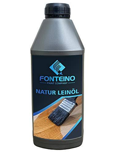 Natur Leinöl Holzöl Pflegeöl Holzschutz Möbelöl harzfrei Holz ölen farblos 1L