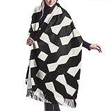 Butlerame Imbuto reticolo geometrico reticolo griglia irregolare imitare sciarpa scialle pashmina avvolge morbide coperte sciarpe avvolgere elegante per le donne