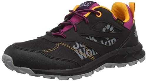 Jack Wolfskin Woodland Texapore Low K Outdoorschuhe, Black/Purple, 31 EU