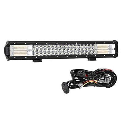 LED Light Bar, AAIWA Strobe LED Bar 288W Off Road Lights 20 Inch Triple Row Driving Light Spot Flood Combo Beam LED Work Light with Wiring Harness Kit for Trucks Tractor Boat Lights