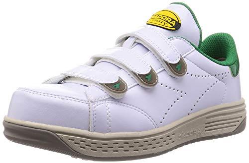[ディアドラユーティリティ] 安全作業靴 JSAA認定 マジックタイプ 耐滑 プロスニーカー KEA ケア KE16 ホワイト/グリーン 24 cm 3E