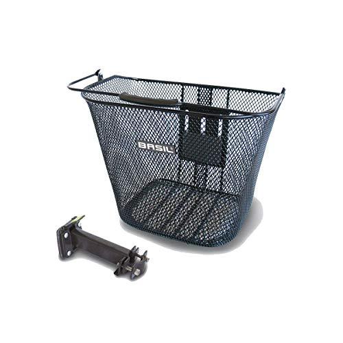 Basil Unisex-Adult Bold Klickfix Fahrradscheinwerfer, Schwarz, Einheitsgröße