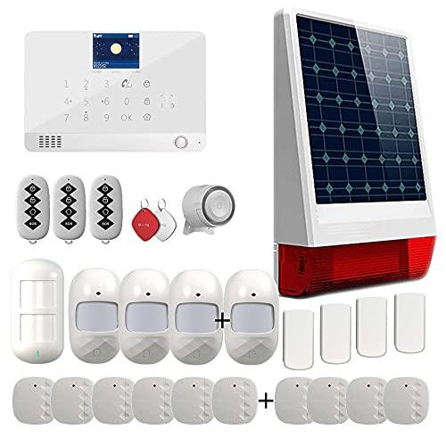 Antifurto casa senza fili con sirena esterna solare Wi-Fi GSM Tuya Smart Life Alexa Google - SW2-14