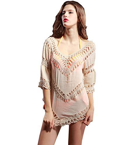 Z-Brand zonwerend hemd, dames, van katoen en linnen, blouse, bikini, hol, beschermende rok, tegen zonlicht, voor buiten (eenheidsmaat)