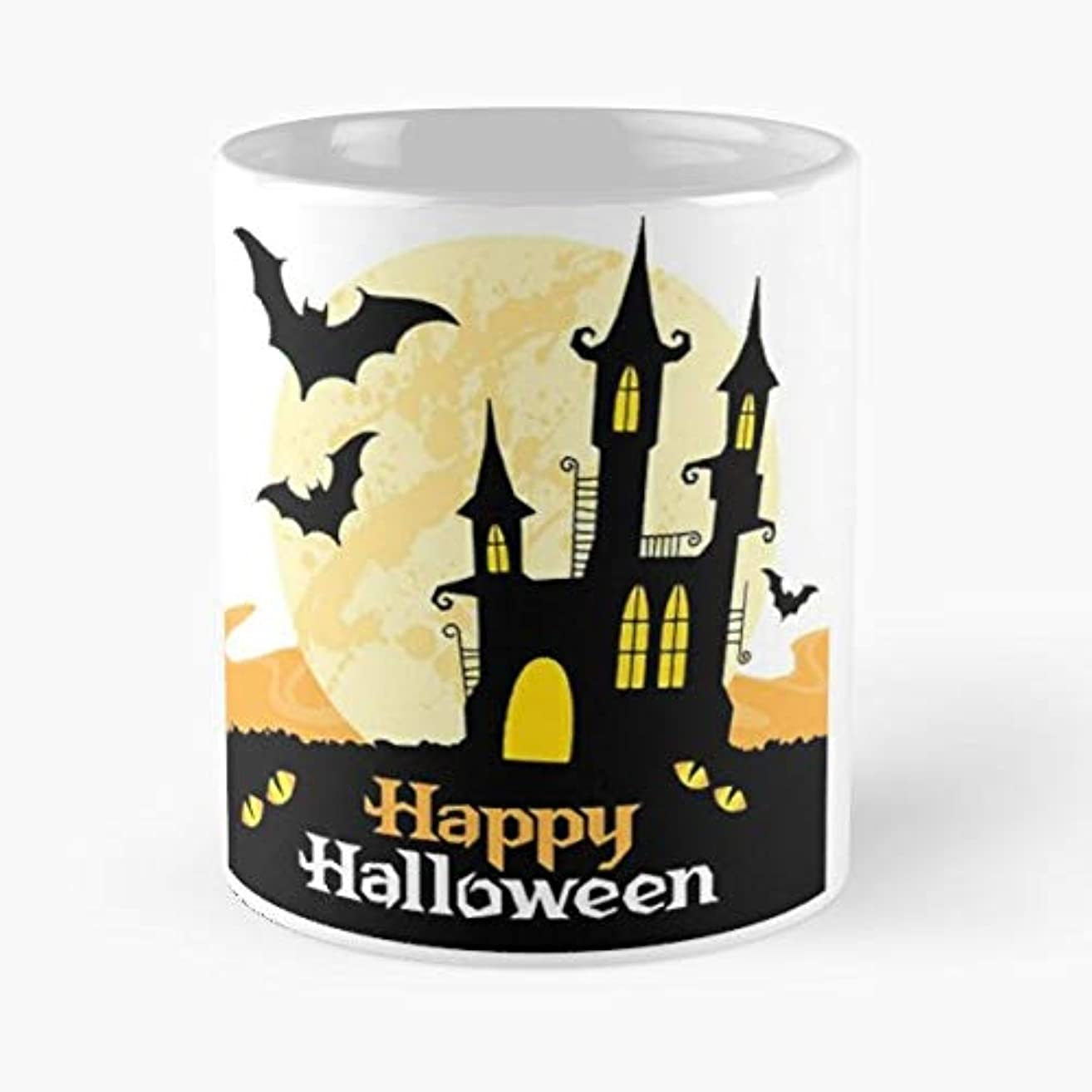 Halloween Cat Scary Screem Spooky Witche Spider - 11 Oz Coffee Mugs Unique Ceramic Novelty Cup, The Best Gift For Halloween.