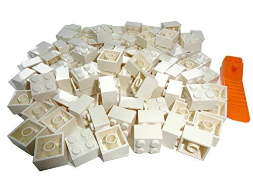 LEGO Classic 100 Stück 2x2 Steine (3003) mit Steinetrenner (Weiss)