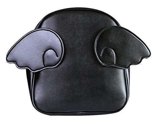 remeehi Cartoon Candy Farbe Wings Of ein Engel Rucksack Schultern Tasche 6Farben (schwarz)