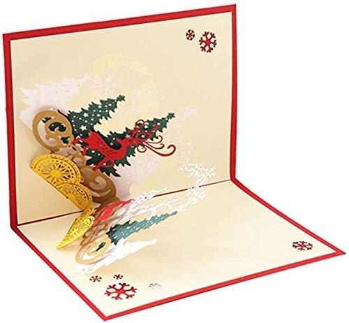 YUY Bosque Ciervo 3D Estéreo Tarjeta De Felicitación Tallado En Papel Postal Hecha A Mano Cumpleaños Navidad Tarjeta De Regalo Parientes Amigos Regalo