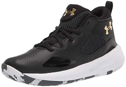 Under Armour Grade School Lockdown 5, Zapatillas de básquetbol Unisex Adulto, Black/White/Metallic Gold (003), 38 2/3 EU
