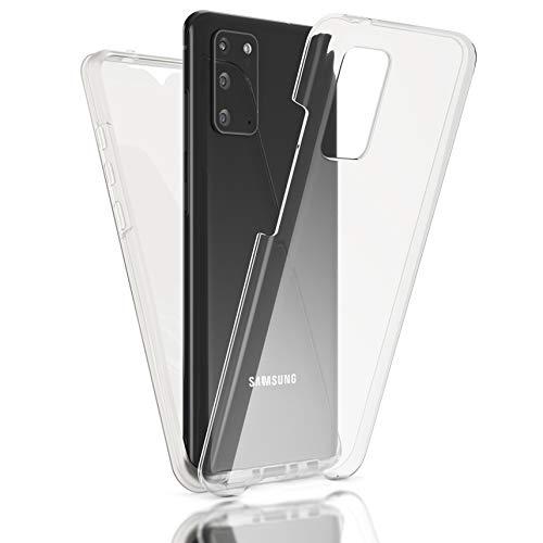 Kaliroo Cover 360 Grados Compatible con Samsung Galaxy S20 Funda, Full-Body Case Proteccion Pantalla Trasera & Delantera Carcasa Rigida, Delgado Estuche Integral Skin Resistente Bumper - Transparente