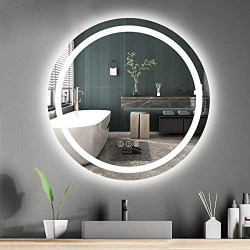 Espejos Pared Blanco Redondo espejos pared  Marca Amorho