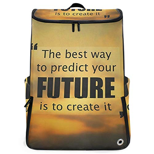 SLHFPX Travel Backpack The Best Way To Predict Future Is Create It Sprot Backpack for Women Big Picnic Bag