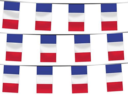 Alsino WM Wimpelkette Fahnenkette 4,5 m Flaggenkette 32 Teilnehmerländer Fanartikel (W-FR Wimpel Frankreich 4.50 m)