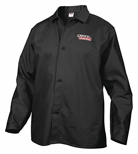 Lincoln Electric Welding Jacket - Flame-Retardant Polyester, Black, X-Large, Model Number KH808XL