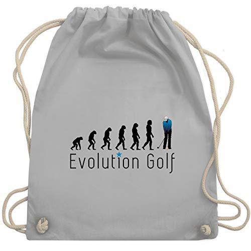 Shirtracer Evolution - Evolution Golf Putten - Unisize - Hellgrau - bio golfball - WM110 - Turnbeutel und Stoffbeutel aus Baumwolle
