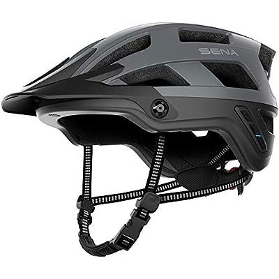 Sena M1-MG00M EVO-Smart Helmet para Mountain Bike (M1, Gris Mate, M), Adult