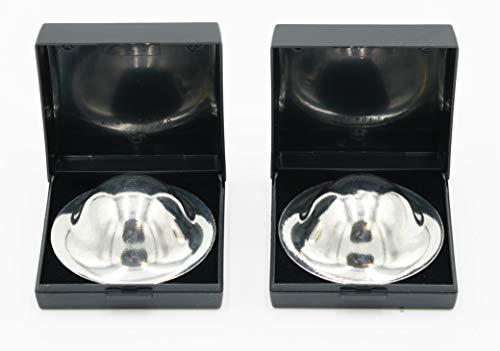 Capelino Zinnhütchen 2 Stk. - Bei empfindlichen und wunden Brustwarzen - 99,9% Reinzinn - inkl. stabiler Aufbewahrungsboxen