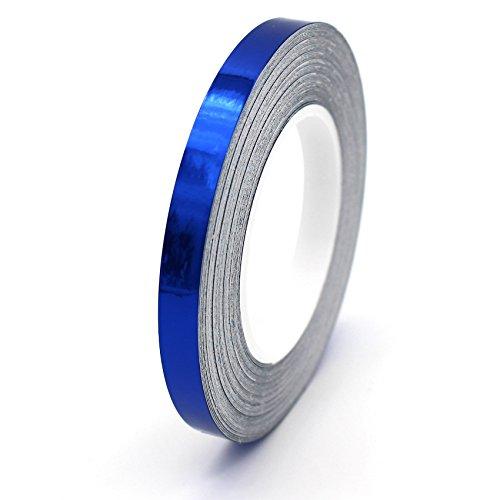 7m Chrom Zierstreifen 6,5mm von Finest-Folia GmbH Seitenstreifen Auto Motorrad Dekorstreifen (Blau Chrom)