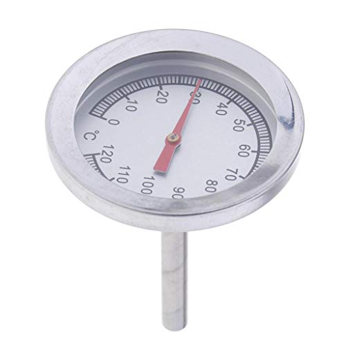 F Fityle Thermometer für Barbecue/Grill/Smoker/Räucherofen/Grillwagen Thermometer Temperaturanzeige / 0°C-120°C