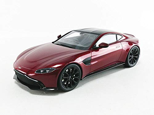 Aston Martin Vantage Hyper Red with Carbon Top 1/18 Model Car by Top Speed TS0184