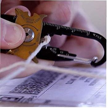 Sanfiyya Pocket Multi Tool Tournevis Clé Touche de Survie Outil de Survie 20 In1 Multi-Fonction Pocket Tool