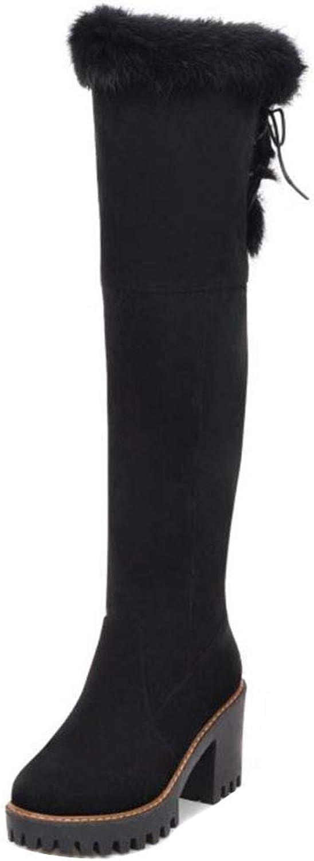 RizaBina Women Side Zip Boots Knee High Boots Platfrom Booties