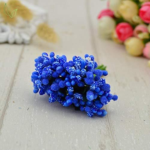 12 vervalsingen garen DIY bloem huwelijkscadeau doos handgemaakte kunstbloemen suikermarkt in goede handen decoratie kroon Scrapbooking,13 donkerblauw