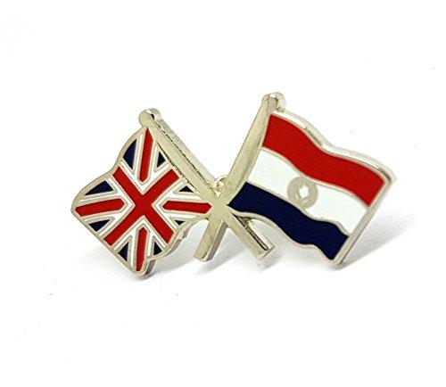 Pin de la bandera de la amistad del Reino Unido, doble doble cruzado, combinado, con banderas nacionales de metal esmaltado, broche de solapa