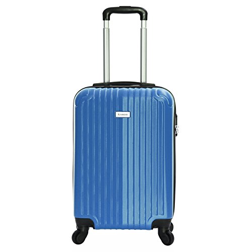 Slimbridge Hard Cabin Hand Carry-on Suitcase Luggage Bag 55 cm 2.5 kg 35 litres 4 Wheels Number Lock, Borba Ocean Blue