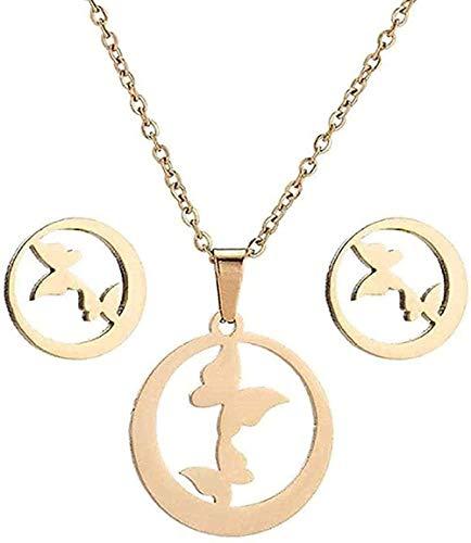 Collar, collar, collar de conejo pequeño, conjunto de joyas de acero inoxidable, collares con colgante de conejo, joyería para mujeres y niños, collares minimalistas