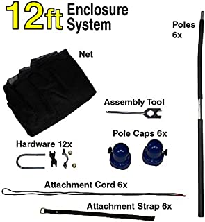 Universal Trampoline Total Enclosure Replacement   12 Ft - 14 Ft - 15 Ft   Trampoline Net Included   6 to 8 Poles Included   All Hardware Included