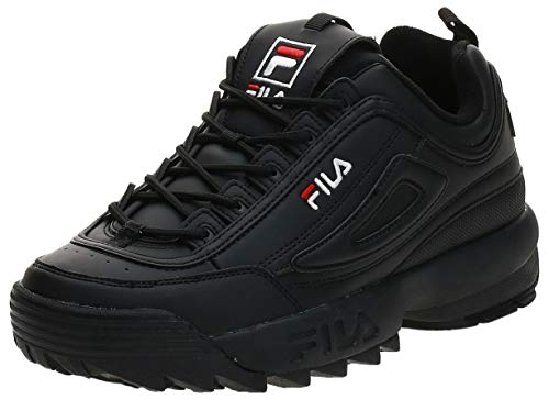 FILA Disruptor, Zapatillas Hombre, Negro (Black/Black), 44 EU