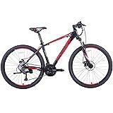 WPW Bicicleta de Montaña, Bicicleta de Carretera de 27 Velocidades para Hombres y Mujeres Que Amortigua MTB con Ruedas de 27,5 Pulgadas (Color : Rojo, Talla : 17 Inches)