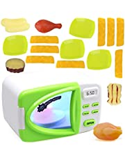 Outgeek Kids Microwave Playset Electric Realistic Cute Pretend Play Toy Kitchen Toy