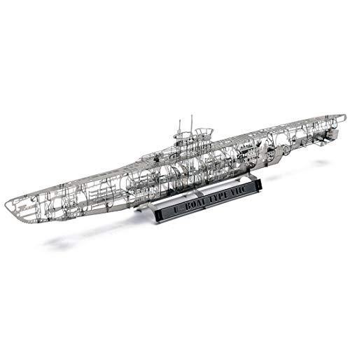 Bataop 1/350 U-Boot Modell, Schiff Modellbausatz 3D Metall Puzzle Bausatz Kreatives Geschenk für Erwachsene und Kinder (VIIC U-Boat)