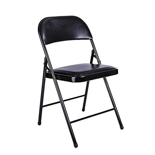 Sedia a dondolo in pelle PU, comodo cuscino e schienale, nero