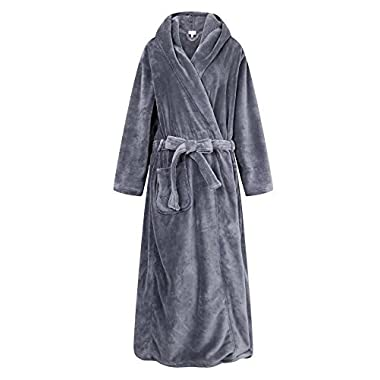 Richie House Men's Warm and Soft Fleece Robe Bathrobe with Hood RHM2760-A-S/M