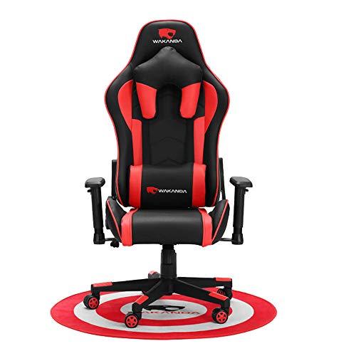 Silla Silla de Oficina Juego de Carreras Juego de Carreras para sillas Lumbar y Jefe Almohada diseño Que compite con, Cuero de la PU