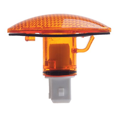 HERCOO LED Dually Bed Fender Front Side Marker Lights Amber Lamps Cover Lens Compatible with 1999-2010 Ford F350 F450 F550 Super Duty, Pack of 1
