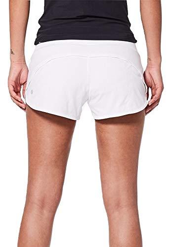 Lululemon Run Speed - Pantalón corto, 2, Blanco