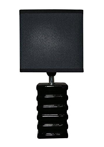 King Home L1713602 tafellamp, zwart, 14 x 11 x 29,5H