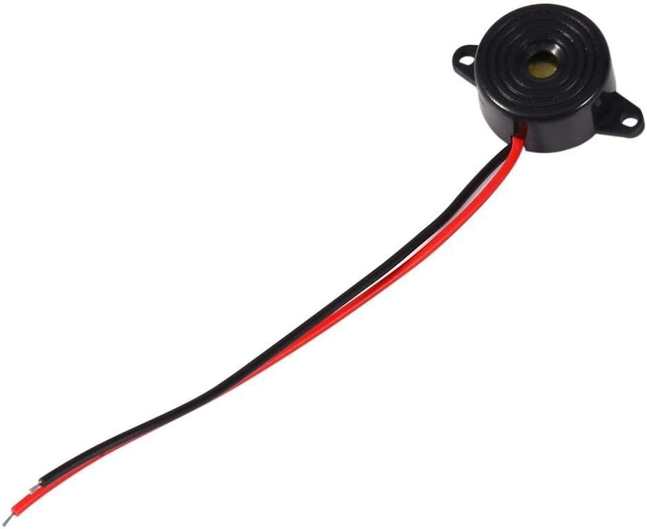 Entatial Sirena electrónica 3-24V Piezo Zumbador de Tono electrónico Alarma Sonido Continuo Longitud del Cable 100 mm para computadoras Impresoras Fotocopiadoras 85 Db a 95 Db