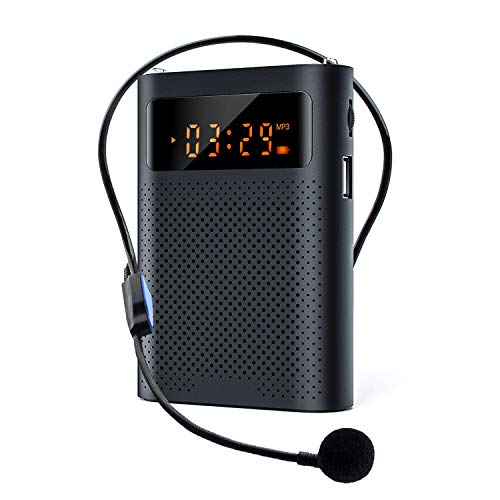 Voice Amplifier with LED Display Portable Bluetooth 30W 3200mAh Rechargeable PA System Speaker for Multiple Locations Such as Classroom, Meetings and Outdoors