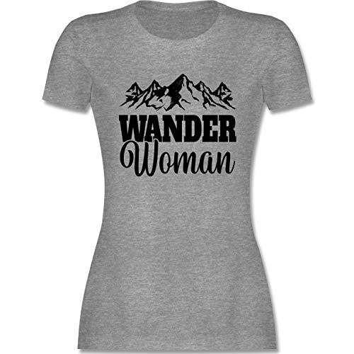 Sonstige Sportarten - Wander Woman - schwarz - L - Grau meliert - Wander Accessoires Damen - L191 - Tailliertes Tshirt für Damen und Frauen T-Shirt