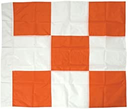 Safety Flag APF 36 by 36 Airport Flag, Orange and White