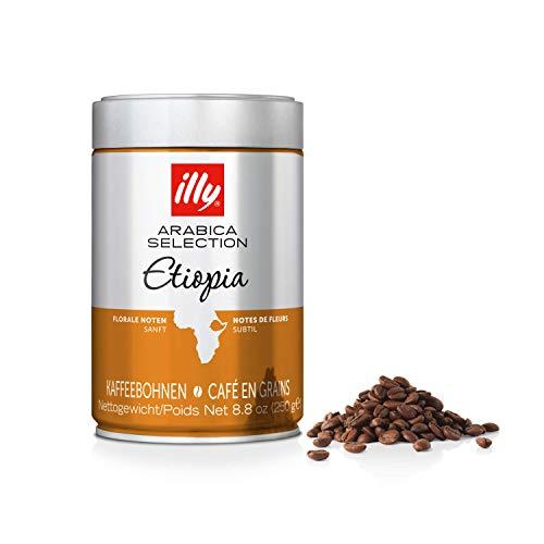 illy Kaffee, Espressobohnen der Arabica Selection aus Äthiopien - Verpackung mit 2 Dosen zu je 250 g