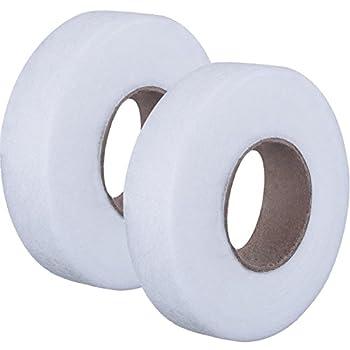 2 Rolls Fabric Fusing Tape Adhesive Hem Tape Iron-on Tape Each 27 Yards  1/2 Inch White