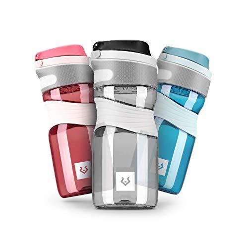 Alphatrail Tritan Borraccia Cody 450ml Nero I 100% Prova di Perdita I Senza BPA & Ecologicamente I Lavabile in Lavastoviglie I Per un'idratazione ottimale nella vita di tutti i giorni